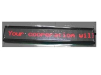 P4.75mm indoor used led screen,RG color;16*128mm Pixel Resolution;size:116*650*40mm;1 or 2 lines words;P/N:PH4.75-16*128