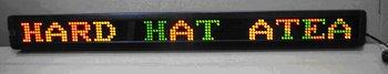 P7.62mm indoor used led screen,RG color;7*120mm Pixel Resolution;size:100*960*34mm;1line words;P/N:M500N-7*120RG