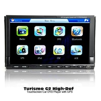 High-Def Touchscreen Car DVD Player w/ GPS Navigator