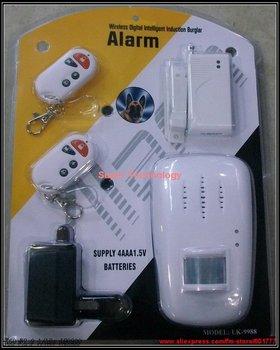 9988 Infrared sensor alarm,IR motion detector security burglar alarm,remote control function with door sensor anti-theft