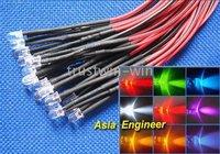 Colors LED Set 25cm Pre Wired 5mm 12V DC Each Color 40Pcs 360 x 9