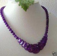 Great Asia Tibet Tribal Jewelry purple jade necklace