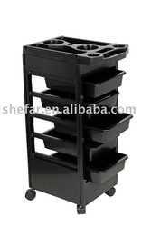 PROFESSIONAL BEAUTY SALON USE BLACK TROLLEY(China (Mainland))