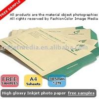 Inkjet photo paper FREE samples FREE SHIPPING