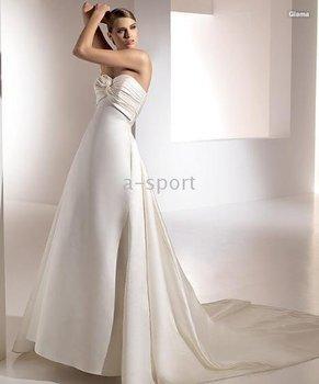 2014 Seconds Kill Top Fasion Strapless Tank 100406 Bridal Sexy Beach Wedding Dresses / Party Dress Elegant Glama Strapless@hsk