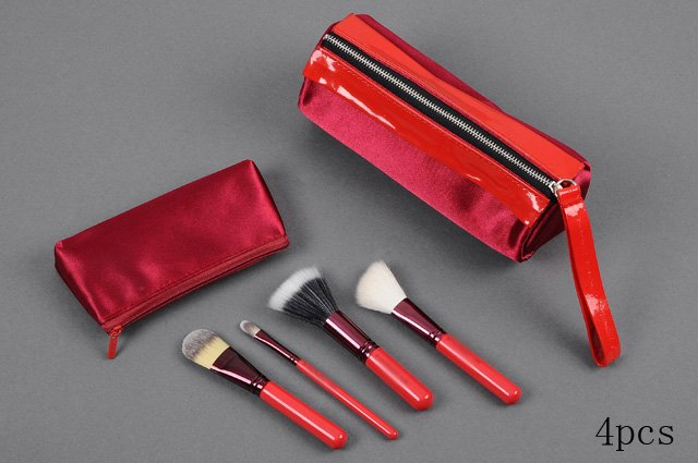 4pcs Red BRUSH SET EDITION 187,168,190,194 with beautiful pouch 10sets/l + free shipping(China (Mainland))