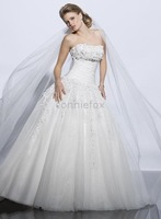 dresses Chic Organz lace shoulder strap full-length train romantic veil custom made wedding