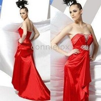 Evening Dress 80060 Sheath / Column V-neck Floor-length Elastic Silk-like Satin Dress On Sale /