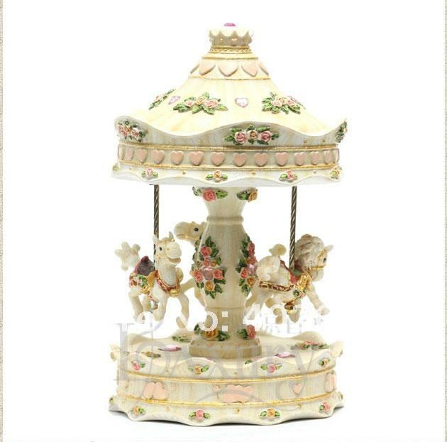 Christmas Musical Merry go Round Whirling Merry-go-round
