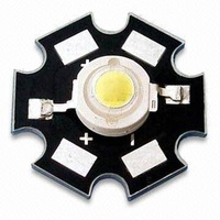 3W high power LED with 2.2 to 2.8V Forward Voltage/1200ma;90-120lm;585-595nm;yellow color;with heatsink