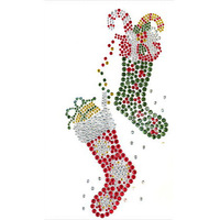Rhinestone Hotfix Transfer Christmas Design Free Shipping