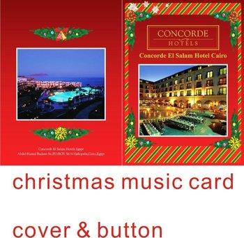 christmas greetingcard diy,music customized