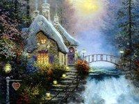 High quality handicraft oil painting:Beautiful scenery