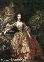 """Oil painting:Portrait of Marquise de Pompadour 24""""x36"""""""
