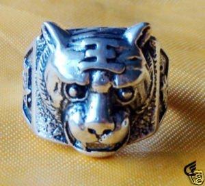 asia raras del tigre anillos plata tibet