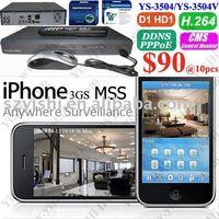 CCTV Standalone DVRs ( network D1 DVR,  3G iPhone, YS-3504V)
