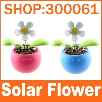 freeshipping_110pieces/lot Flip Flap Solar power Flower Solar Toys for car,home decoration_good_gift