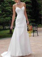 Fashion romantic Beach New Wedding dress/Bride dresses(any size/color)R9017