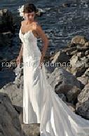 Beach Sweetheart Neckline Spaghetti Straps Wedding Dresses 1051