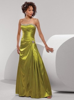 dress/Party dress/Sexy/gown/girl/Bride/Bridesmaid(any size/color)155 2009 New style gold wedding