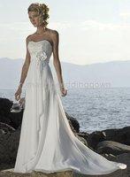 Starpless Beach Weding Dress/Bridesmaid(any size/color)93051