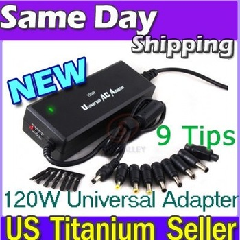 UNIVERSAL Power Supply AC DC Adapter F Laptop Cord 120W