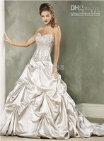 2010 New Wedding Dress Wedding Apparel & Accessories strapless sleeveless all Size #FFFFF4