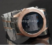 NEW W960 Purity steel quad-band watch mobile phone hidden camera