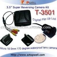 3.5 inch Digital Flip Up TFT LCD Rear View Camera System