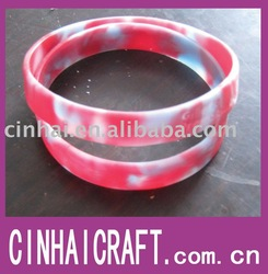 Mixed color Debossed Silicone Hand Band(China (Mainland))