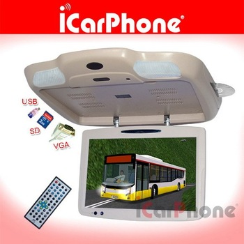 "19"" car  DVD player,car MP3 player,19"" Roof mount DVD player with VGA TV for BUS LCD TV DC 24V"