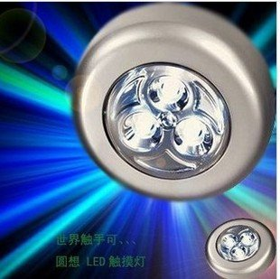 Battery Powered Stick 3 Tap Touch Night 3 LED Light(China (Mainland))
