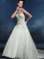 Ball Gown Strapless Floor-Length Wedding Dresses HS1042
