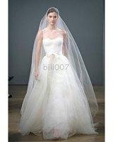 Strapless Wedding dreses illusion Necklines Chiffon Tull Bridal Dresses 2010 Monique Lhuilli A-line