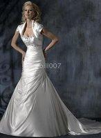 Dakota A-line Bridal Gowns beaded strapless Lavish Stain Wedding Dresses for Jobridal MS 2010 Style