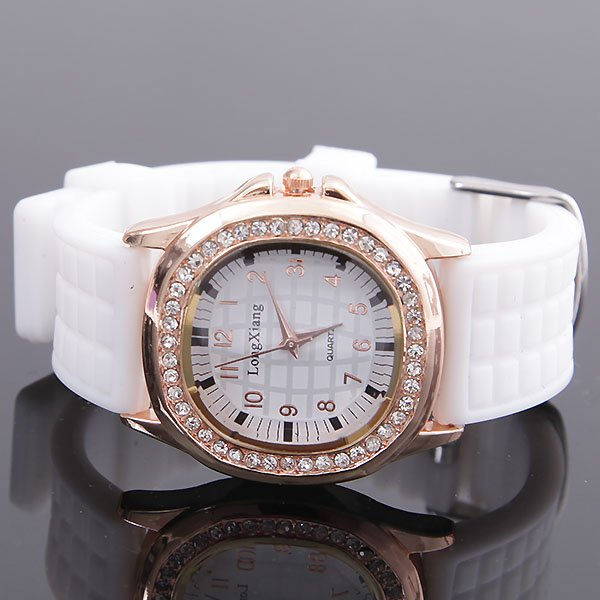 Free shipping wholesale and retail Fashion soft plastic band women's/ladies' and men's watches(China (Mainland))
