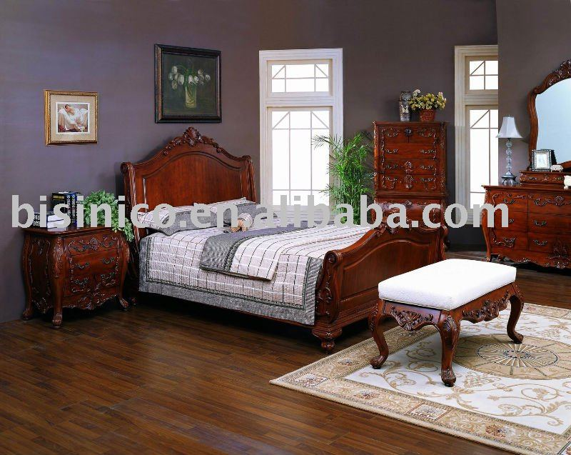 Slaapkamer Massief Hout : Solid Wood Bedroom Furniture Sets