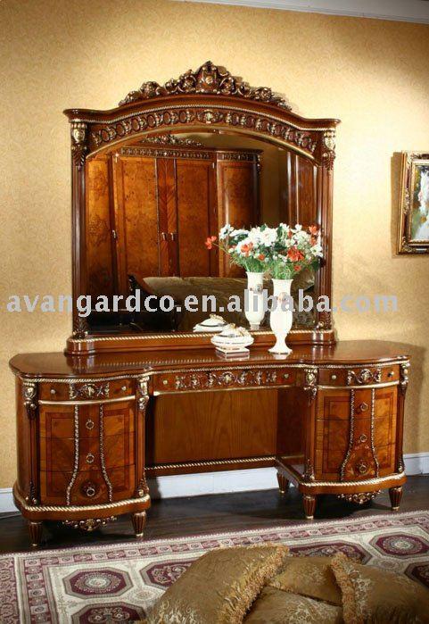 Itália Royal estilo dreeser & espelho de console de madeira(China (Mainland))