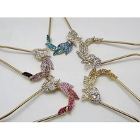 Wholesale - HAIR ACCESSORIES Crystal Peacock Hair Clip Stick Clasp(12pcs/lot)