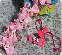 100 pieces B1 Girls Hair rope Hair band Hair Bows Baby Hair circle hairpin