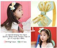 per lot A15 Sweet Girls' Hair Accessories Baby hair bows Baby Headbands 100 pair
