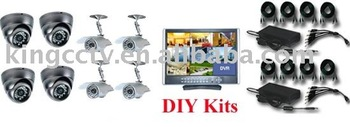 CCTV Surveillance System: HK-S1908M+IR Camera*8 ($758.00 Only)
