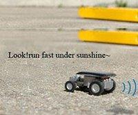 Funny World's Smallest Slot SOLAR RACER CAR = Best Gift