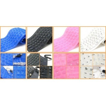 Free Shipping NEW 12 Colors Flexible USB/PS2 Waterproof Silicon Keyboard, Flexible keyboard 20pcs