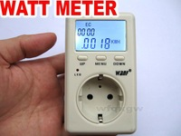 EU plug  Advanced WATT Power Energy Voltage Meter Monitor 220-240V