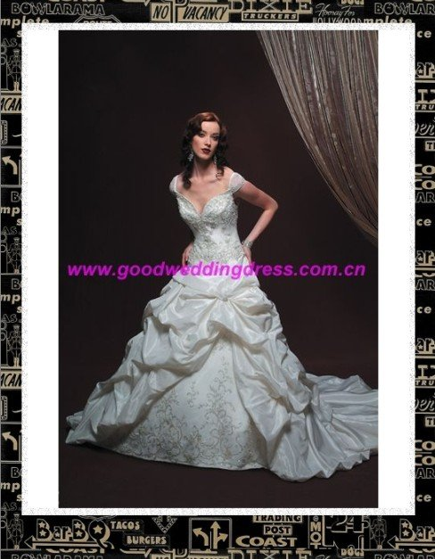 2010 year Europe sylte wedding dress(China (Mainland))