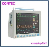 New ICU Patient Monitor ECG,NIBP,SPO2,TEMP,RESP+Printer