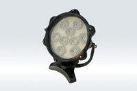 9*1WLED Underwater Light;DMX512 compatible;DC12V input;IP68;die-casting aluminium housing;green color;P/N:FST-HFL-W9L-04