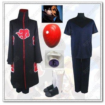 Naruto Akatsuki Uchiha Madara Cloak Weapon Set Cosplay Free Shipping Custom Made