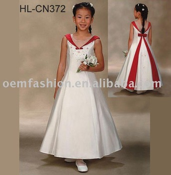 beautiful flower girl dress/children dress/kid dress HL-CN372